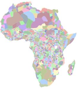 """Africa Map"", 2001"