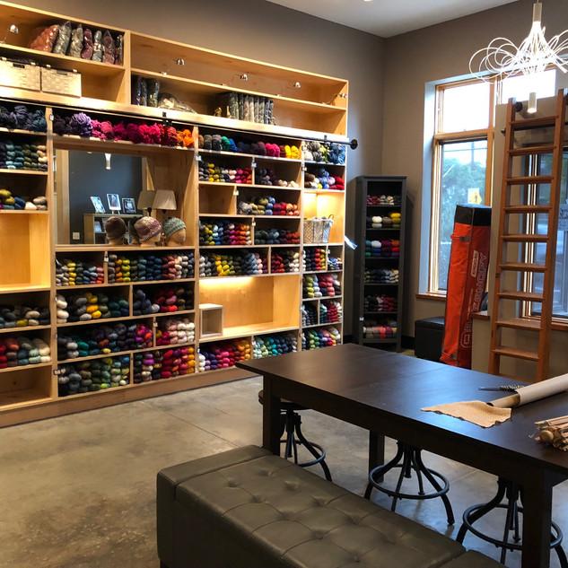 Shop shelves