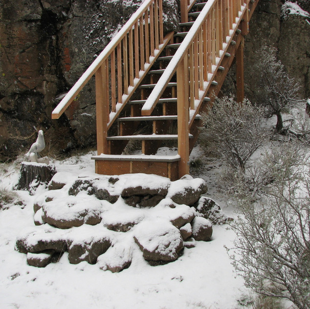 Stairs an a mountainside