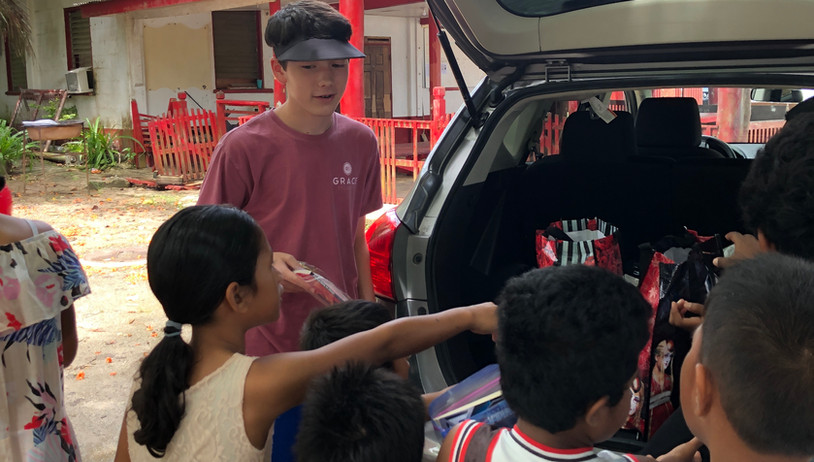 The children are excited to see what we have brought for them.  After a few visits they have come to recognize us, and know we are here to spend a little time loving on them.