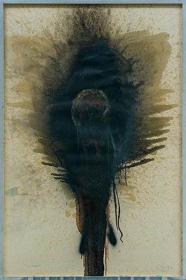 """Otto Piene - """"Black Flower"""""""