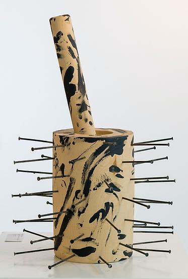 "Günther Uecker - ""Le trou du coer"""