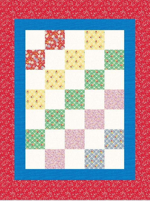 Easy 5 Square Baby Quilt, Donna Westerkamp DW1576