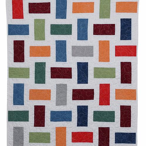 """PDF Quilt  Pattern, Baby Cherrywood Blocks, Quilt, size 33"""" x 39"""""""