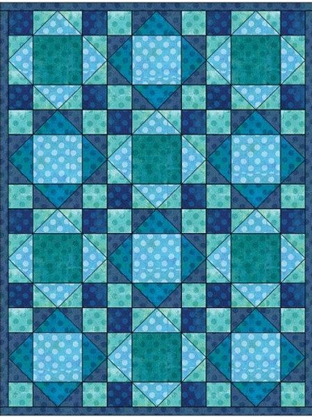 "PDF Quilt Pattern  Big Baby Block Quilt 2   12"" Simple King's Crown  Crib Size B"