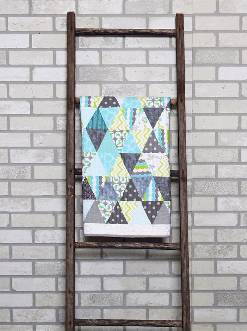 PDF Printable Art Quilt Pattern Digital Download Prints Wall Art Decor Triangle
