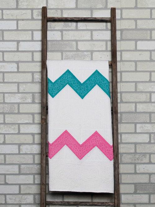PDF Quilt Pattern Chevron Baby Quilt Pattern   Quilt Pattern   Chevron Quilt  