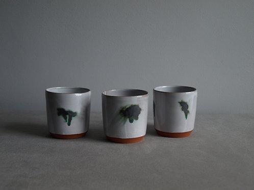 Planter set of three  green and grey