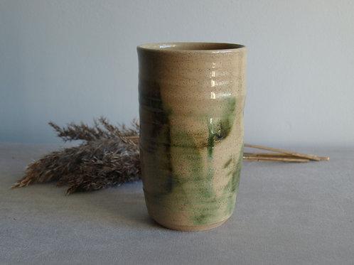 Green brushstroke vase