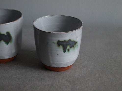 Pair of cups green and grey
