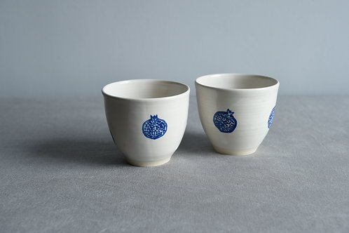 Pair of cups pomegranate