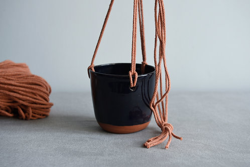 Hanging planter midnight blue