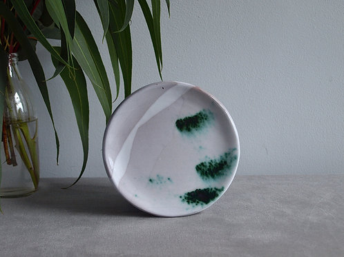 Plate set of two emerald green