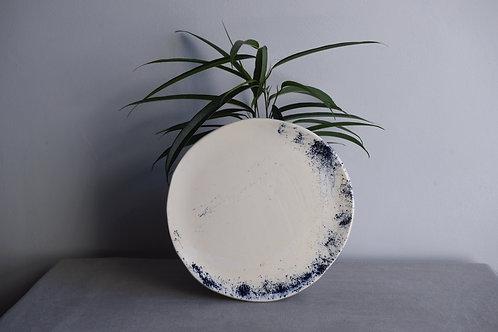 Blue powder dish