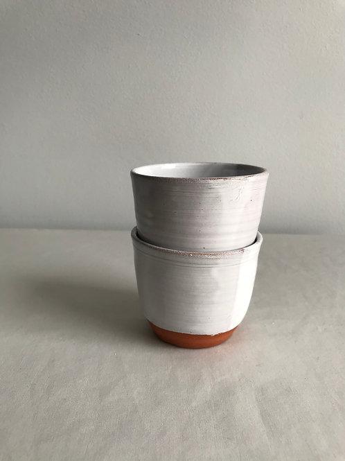 Pair of  mini cups grey