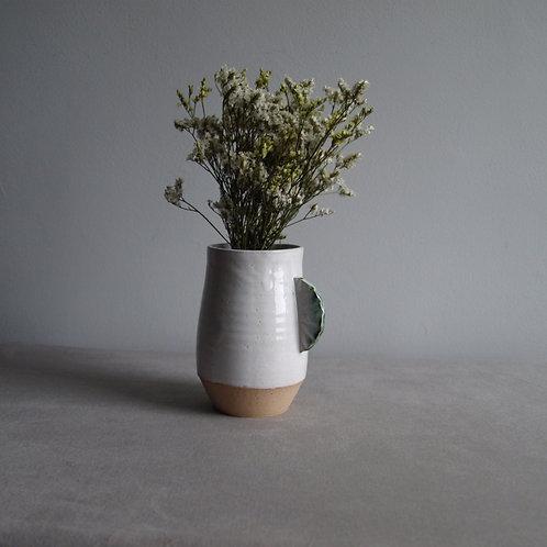 Curved handle vase