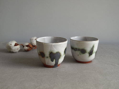 Pair of cups green & grey