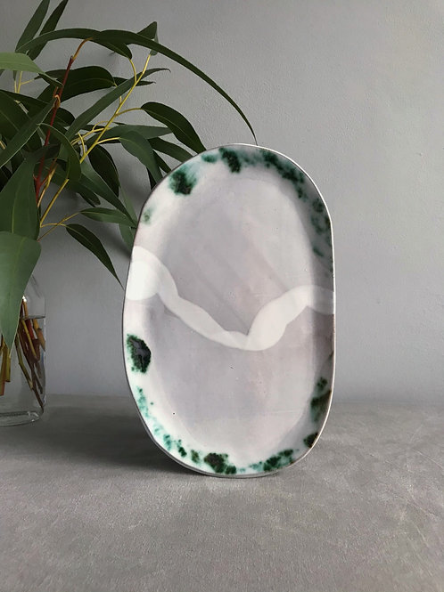 Flat asymmetrical  dish