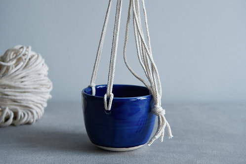 Hanging planter cobalt