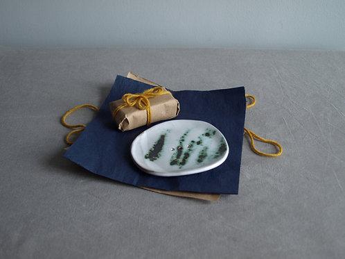 Green powder soap dish and  soap bundle