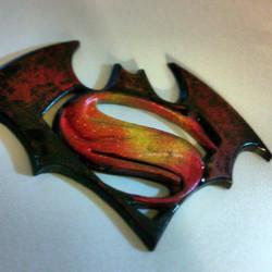 Instagram - #batman vs #superman logo
