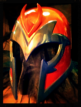 magneto helmet red version