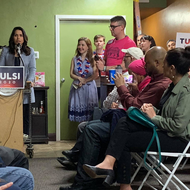 Tulsi speaks at the FUN Townhall, March 2019