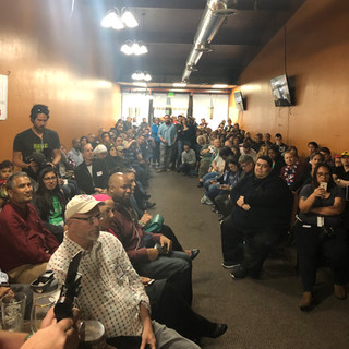 The audience at FUN's Tulsi townhall, March 2019