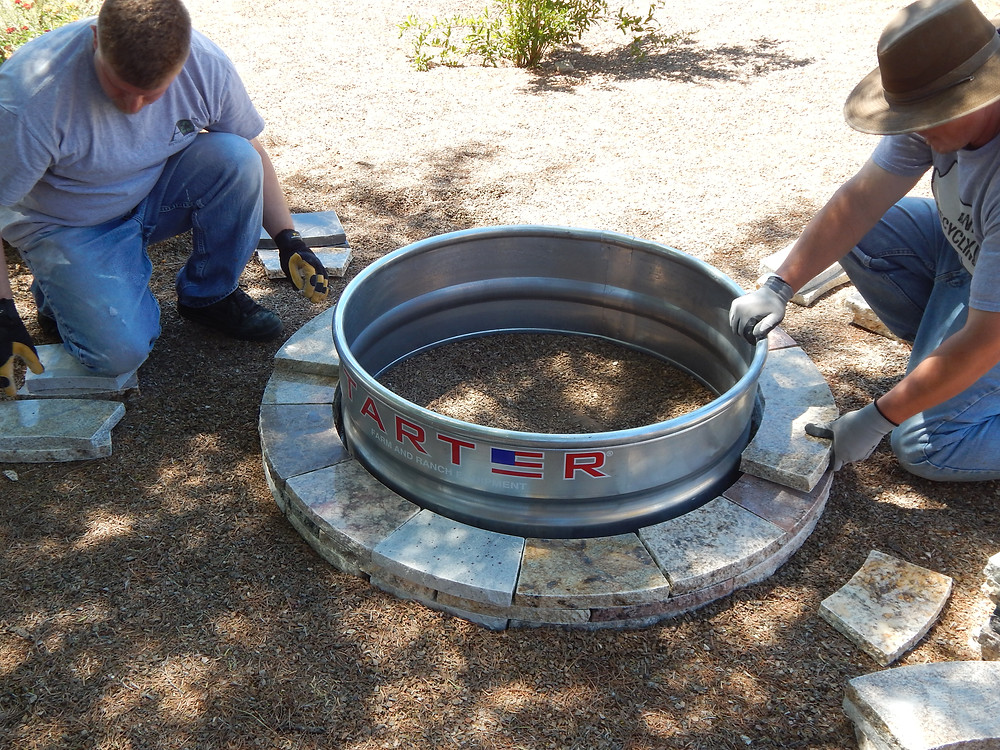 Installing a fire pit