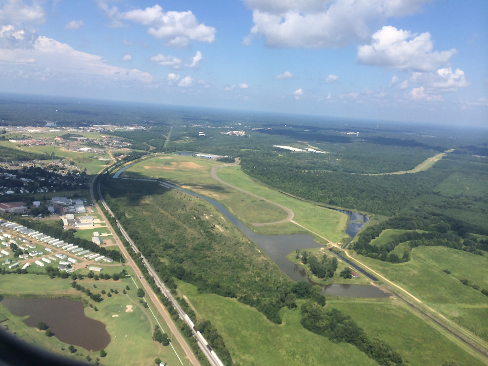 Flying to Jackson, Mississippi