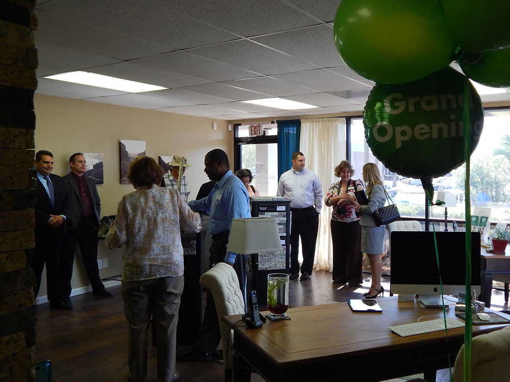 A&E Recycled Granite Showroom at grand opening