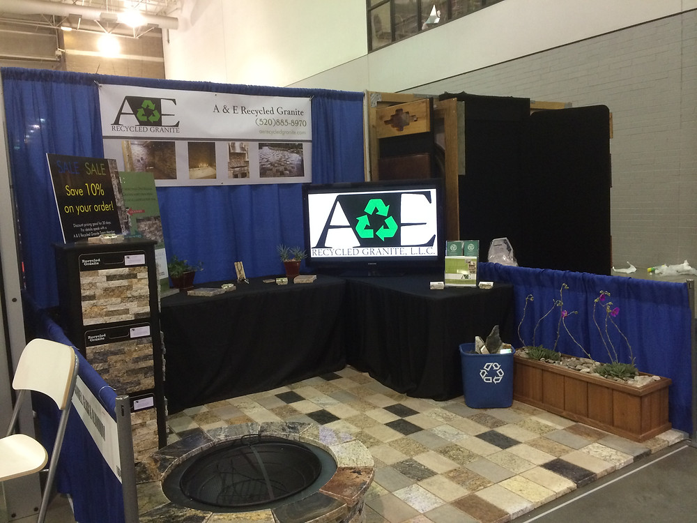 A & E Recycled Granite at the 2014 Spring SAHBA Home Show
