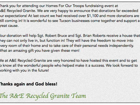 Homes for Our Troops Fundraiser