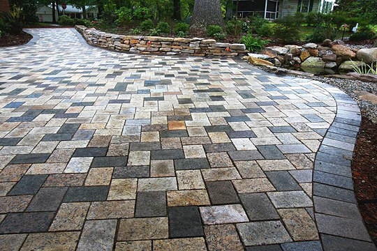 Paver patio and driveway.