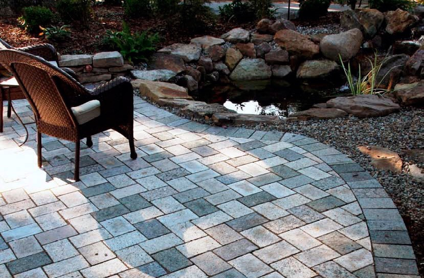 Recycled Granite paver patio