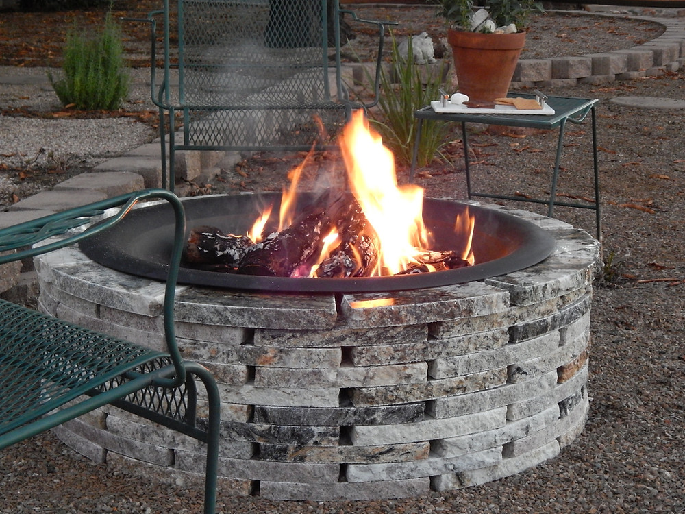 AE Recycled Granite patio fire pit