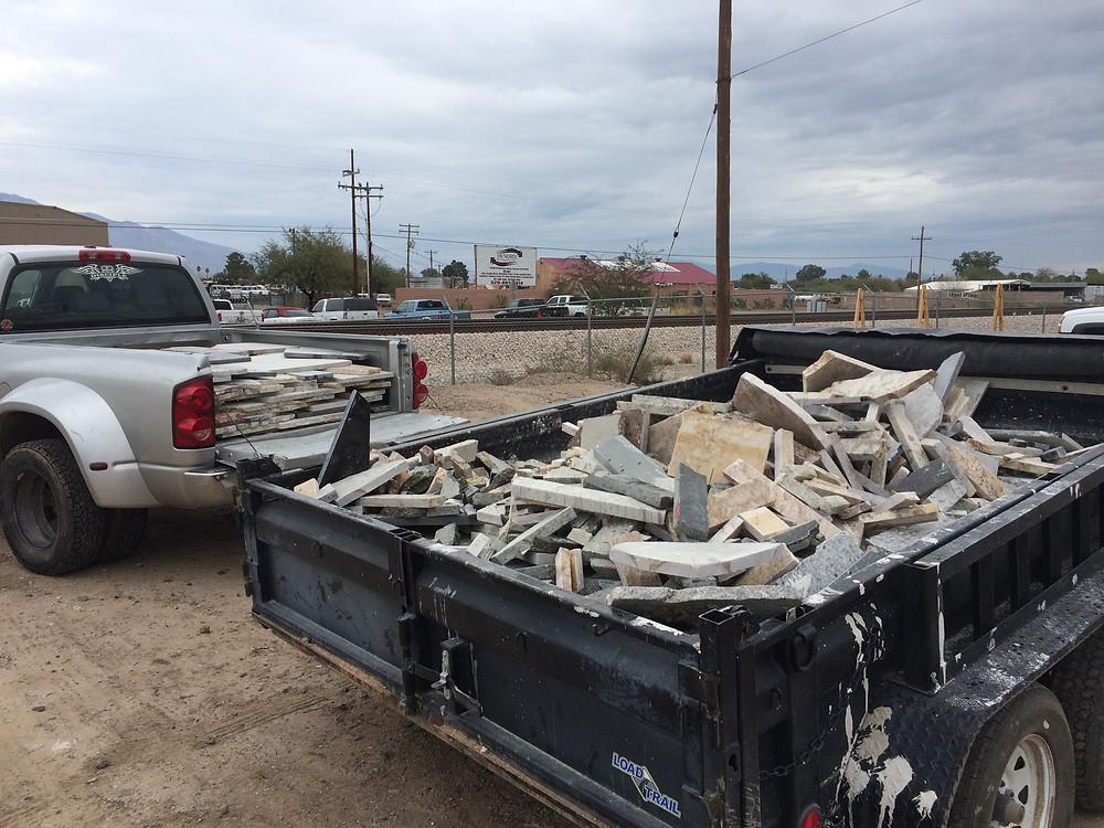 Countertop waste from Tucson, AZ