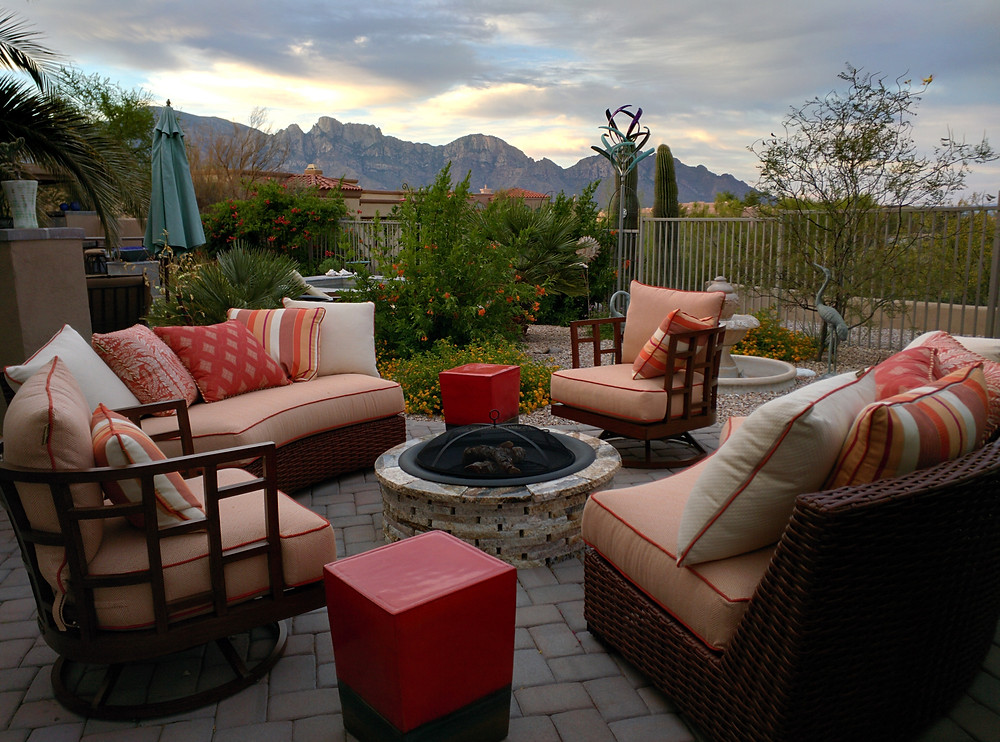 A fire pit makes a great backyard area
