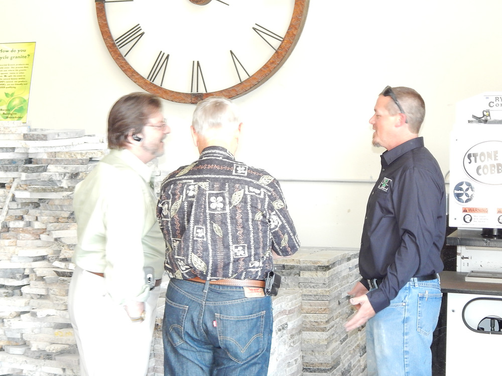 Owner Josh Olauson with Berrie Herr, President of SAGCC and John Eisele at the  Grand Opening