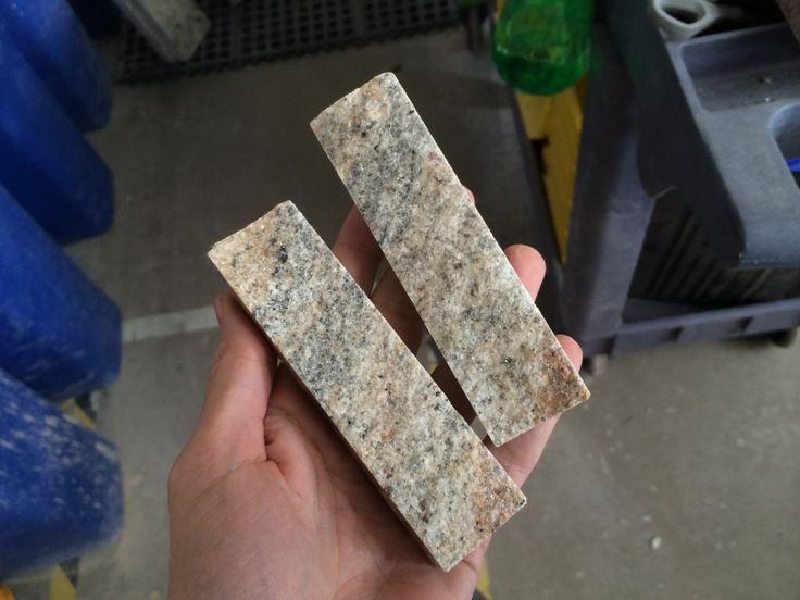 Split Stone Tiles from countertop remnants