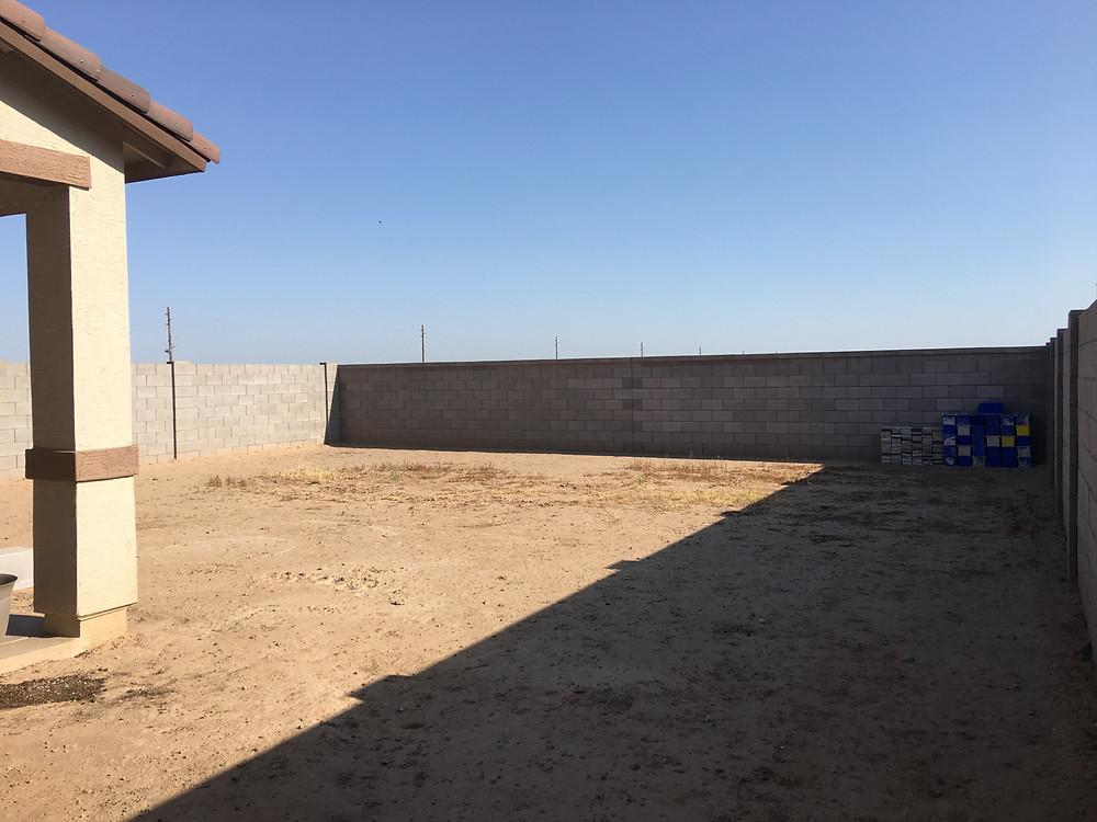 New Construction - Backyard