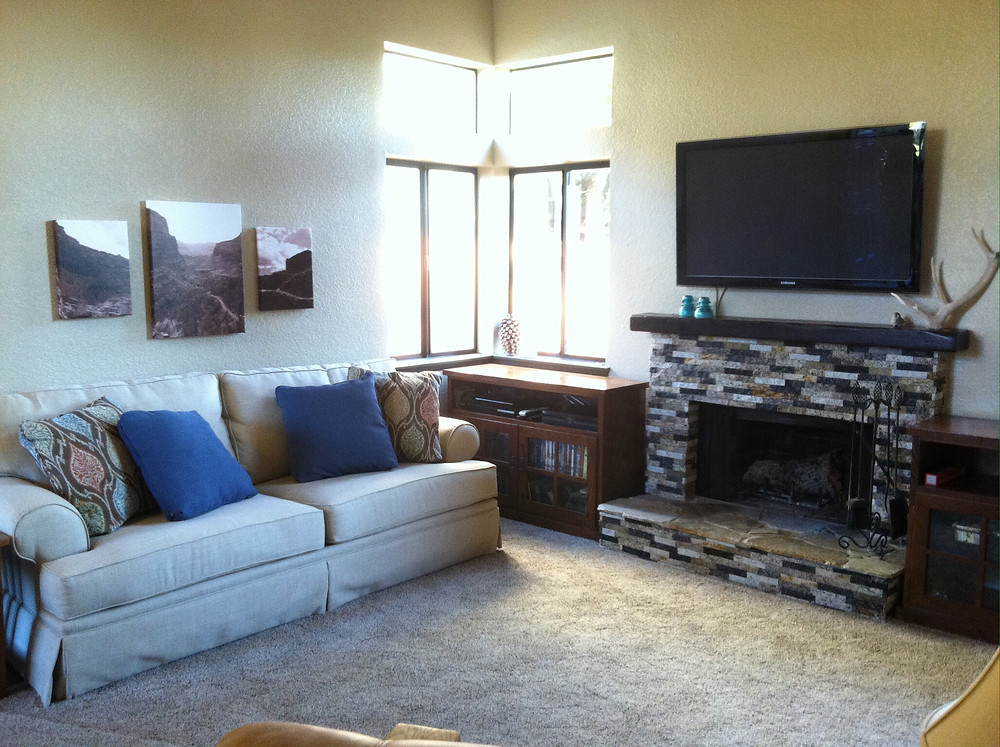 Our completed Living Room