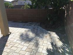 Stone Backyard Patio