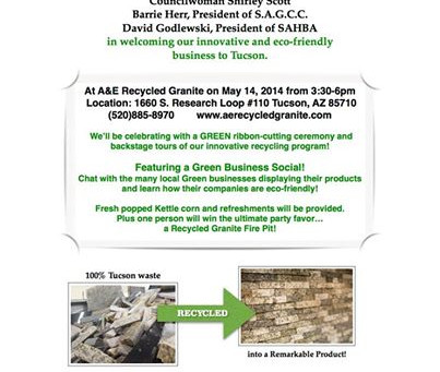 Invitation to our GREEN Grand Opening Celebration