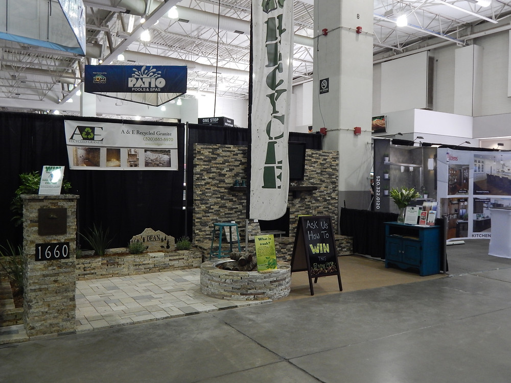 A&E Recycled Granite 2015 Spring Home Show booth
