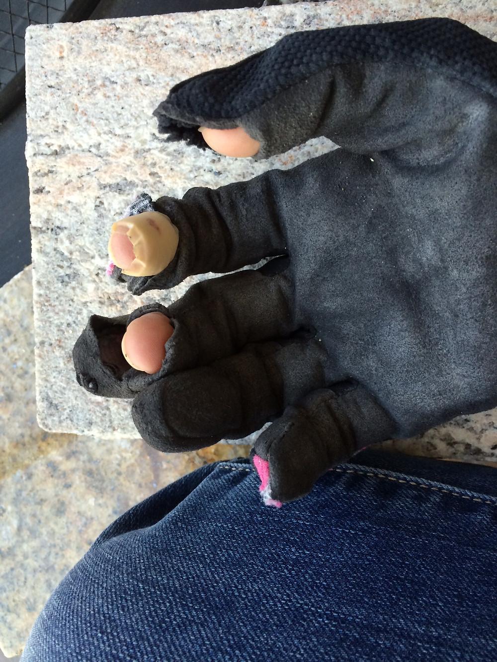 Julie's gloves.