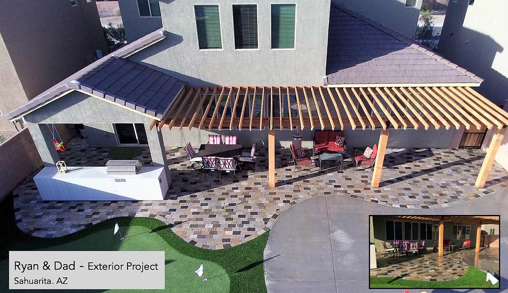 Granite paver patio