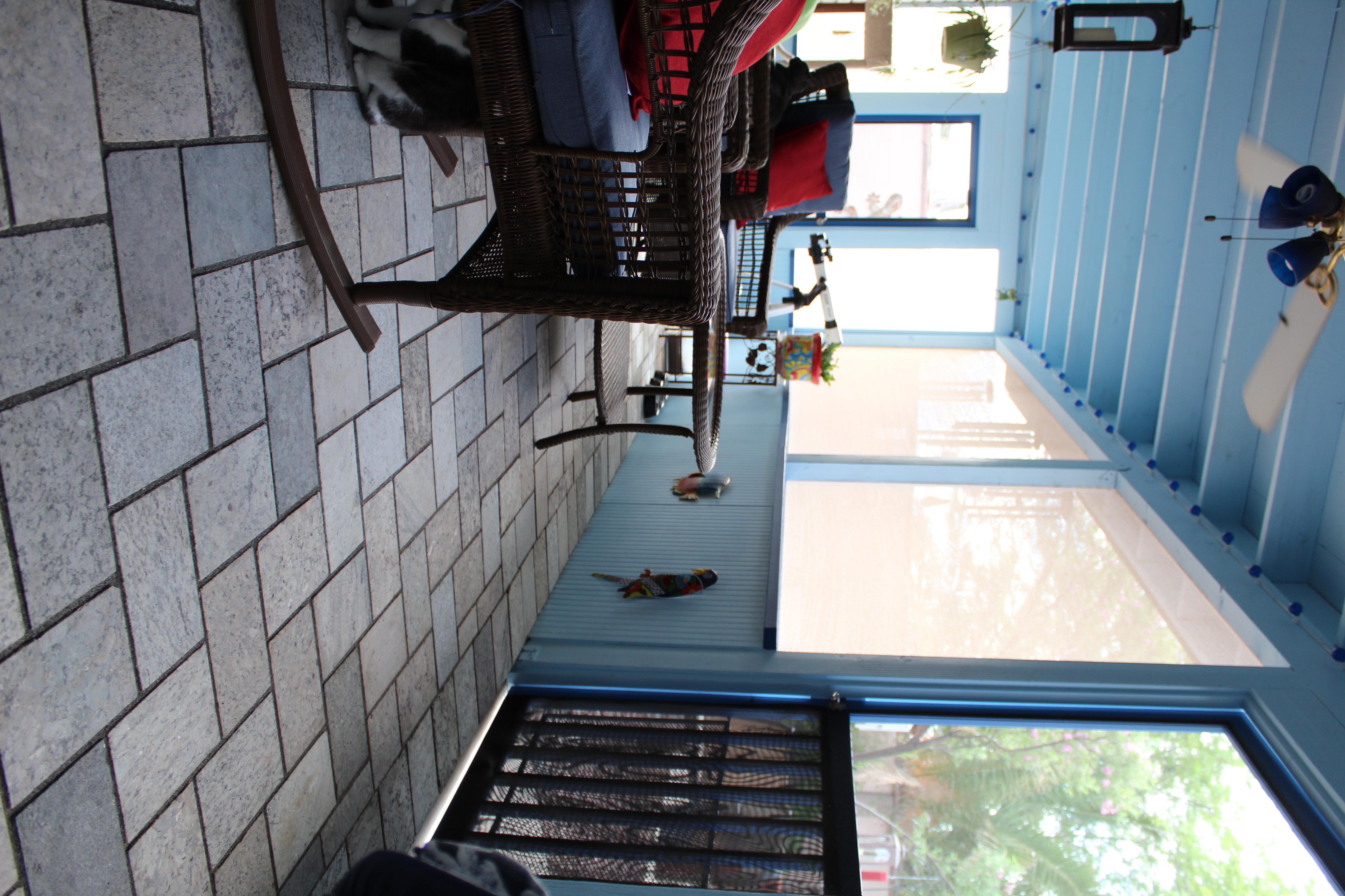 Arizona Room Paver flooring