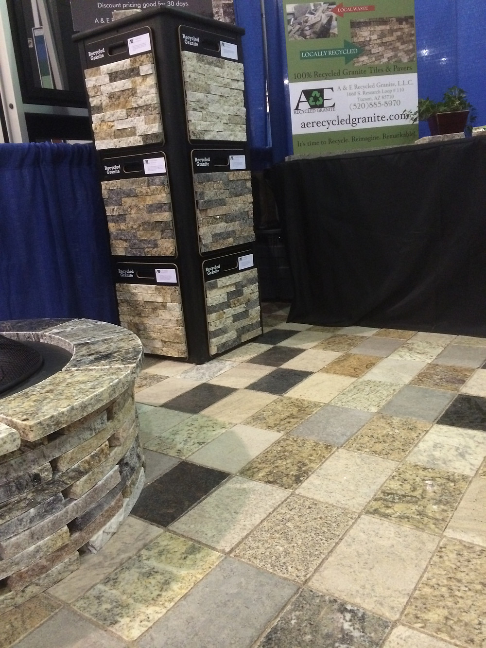 A&E Recycled Granite Split Stone Veneer