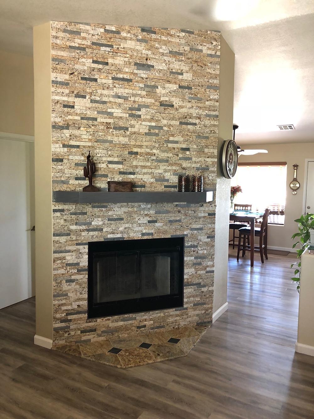 AZ State Parks Stone Fireplace